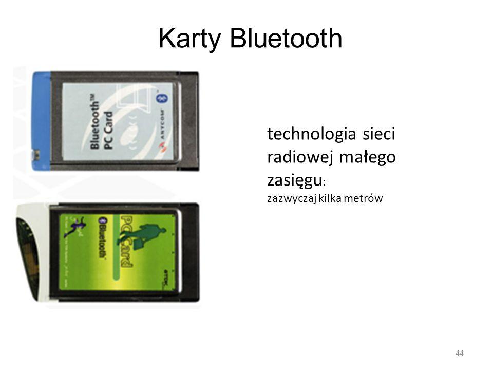 Karty Bluetooth technologia sieci radiowej małego zasięgu: