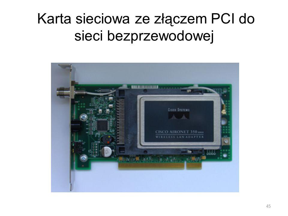 Karta sieciowa ze złączem PCI do sieci bezprzewodowej