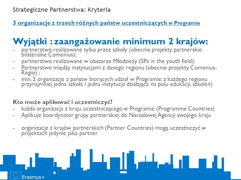 Wyjątki : zaangażowanie minimum 2 krajów:
