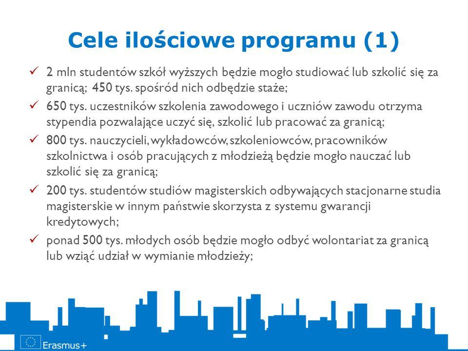 Cele ilościowe programu (1)