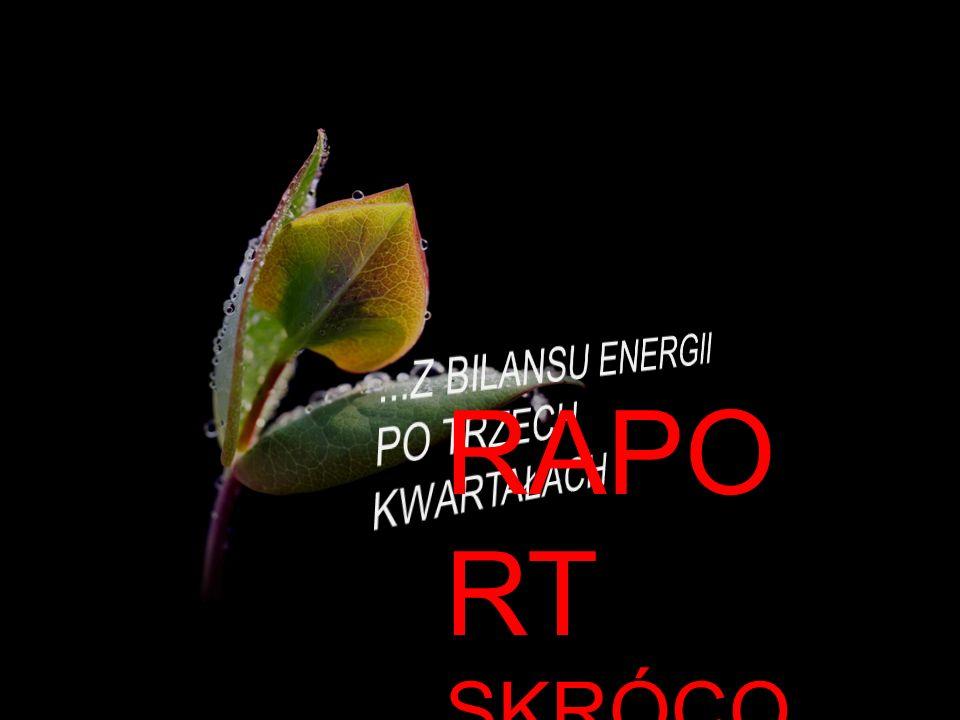 ...Z BILANSU ENERGII PO TRZECH KWARTAŁACH