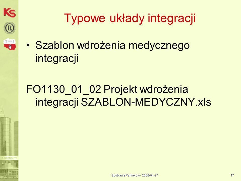 Typowe układy integracji