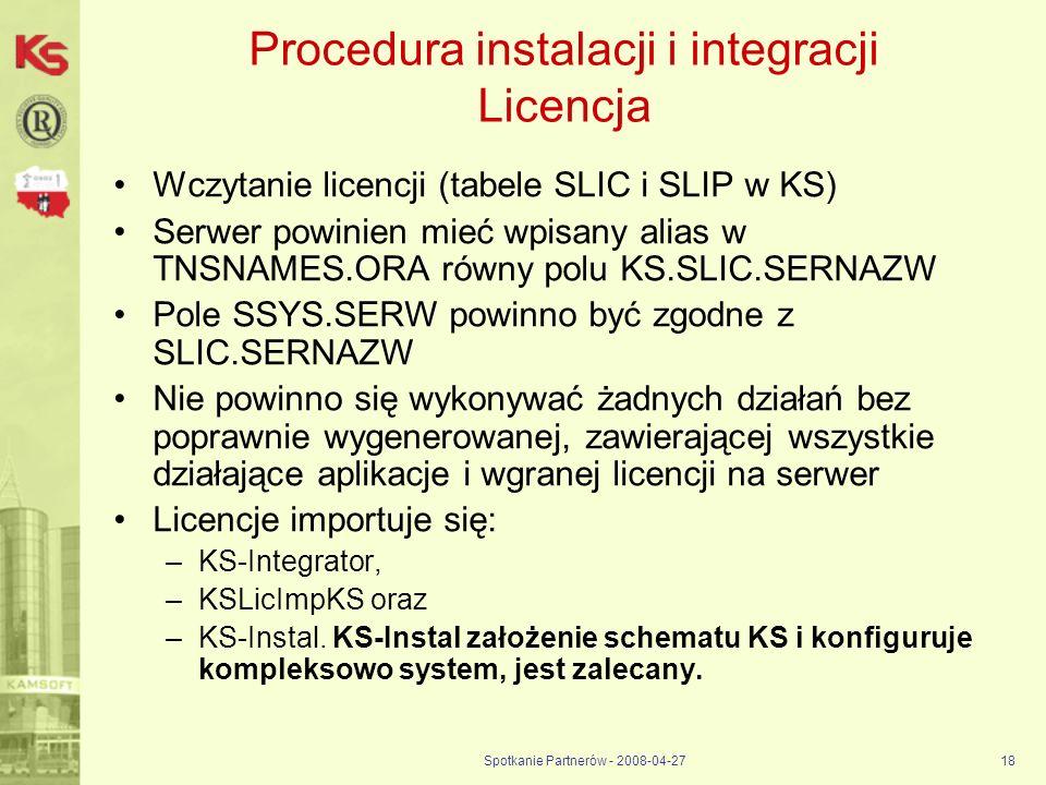 Procedura instalacji i integracji Licencja