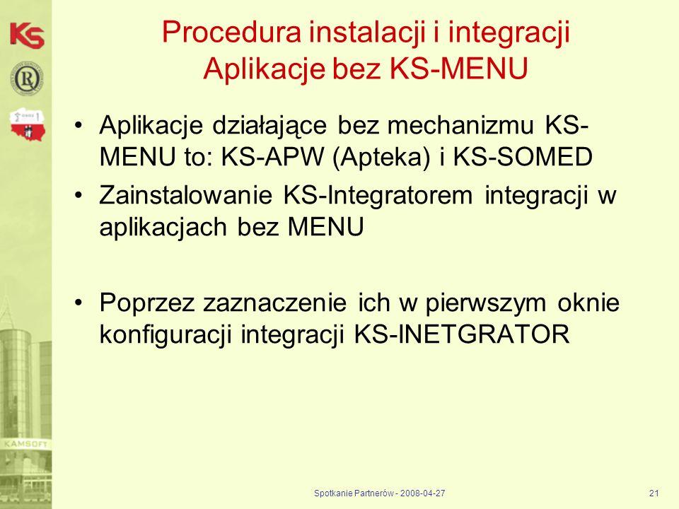 Procedura instalacji i integracji Aplikacje bez KS-MENU