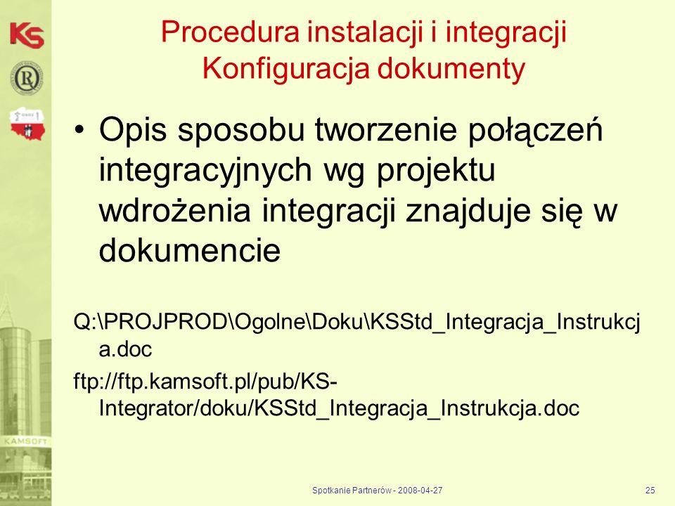 Procedura instalacji i integracji Konfiguracja dokumenty
