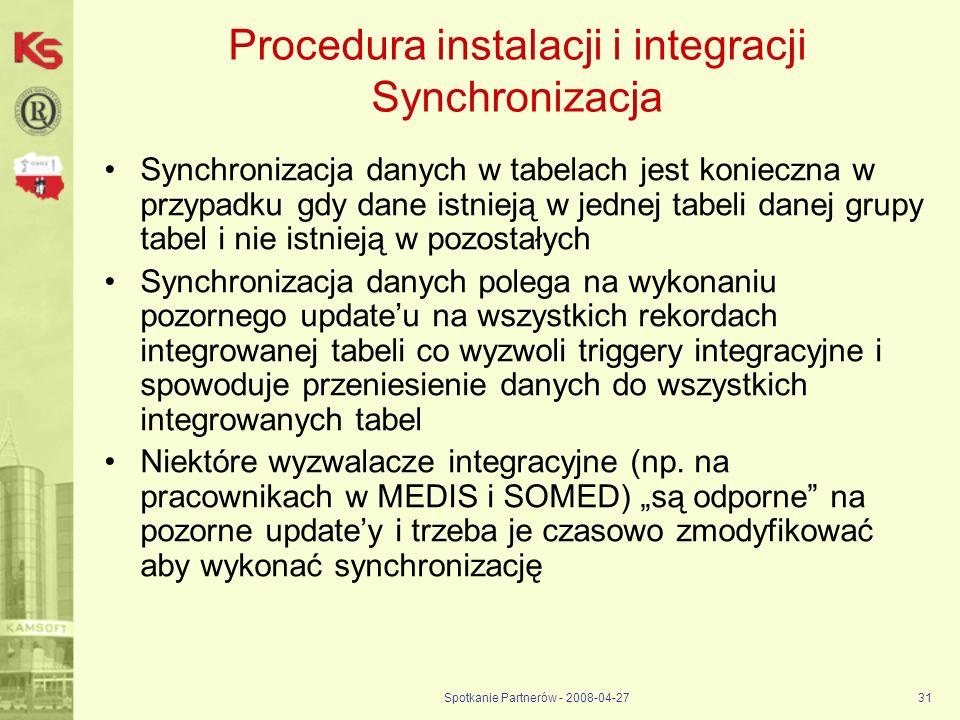 Procedura instalacji i integracji Synchronizacja