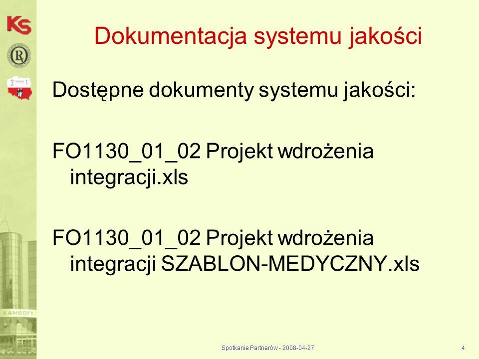 Dokumentacja systemu jakości