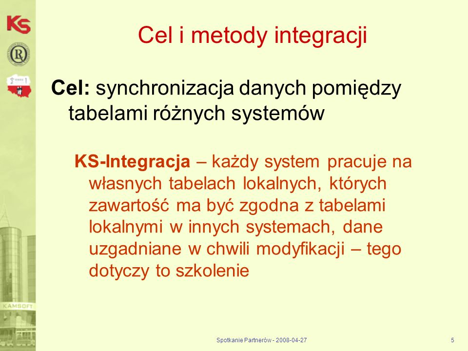 Cel i metody integracji