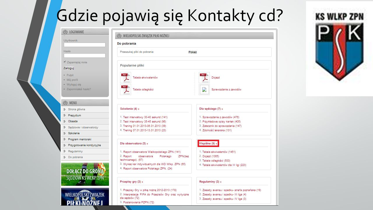 Gdzie pojawią się Kontakty cd