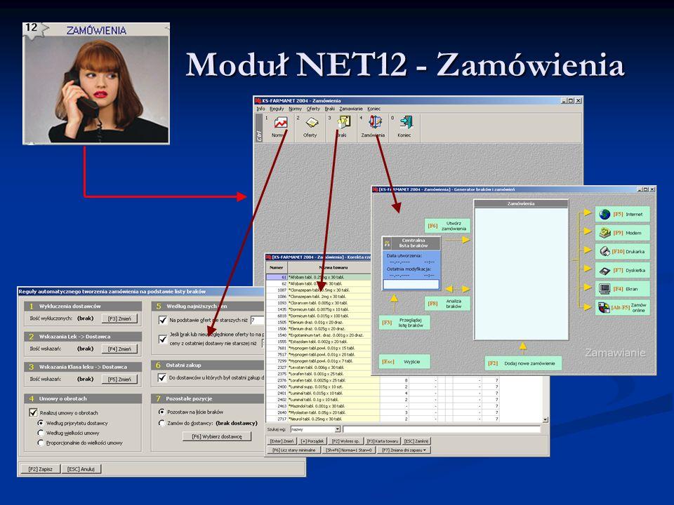 Moduł NET12 - Zamówienia