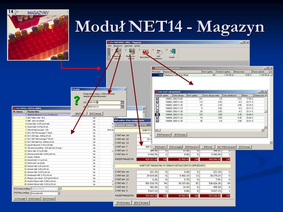 Moduł NET14 - Magazyn