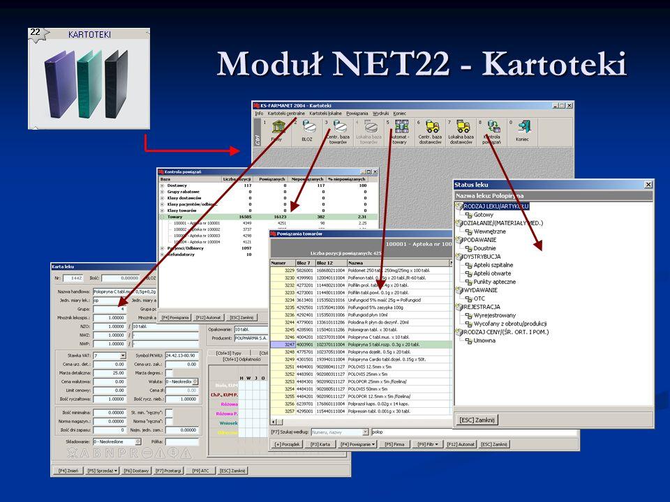 Moduł NET22 - Kartoteki