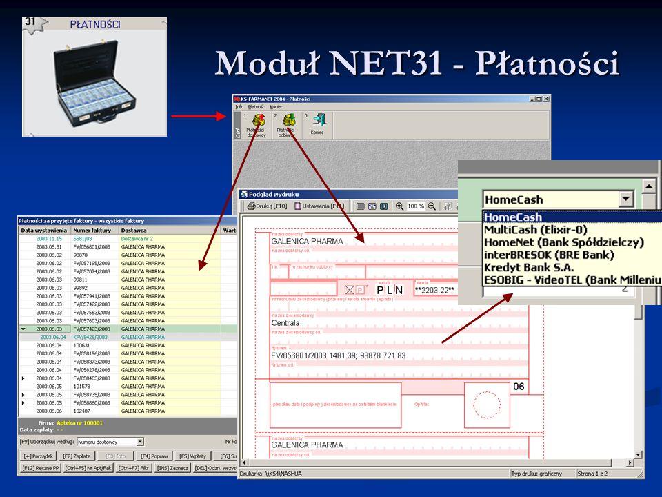 Moduł NET31 - Płatności