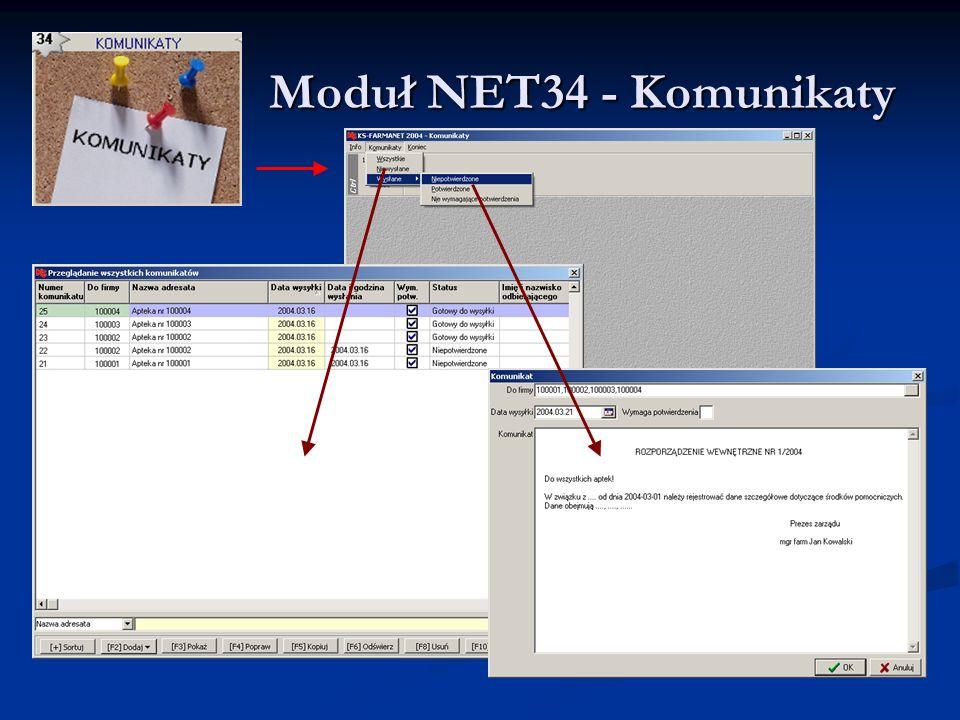 Moduł NET34 - Komunikaty