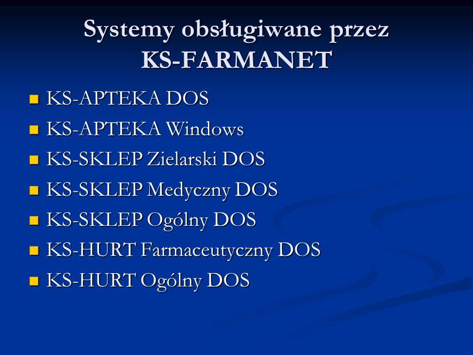 Systemy obsługiwane przez KS-FARMANET