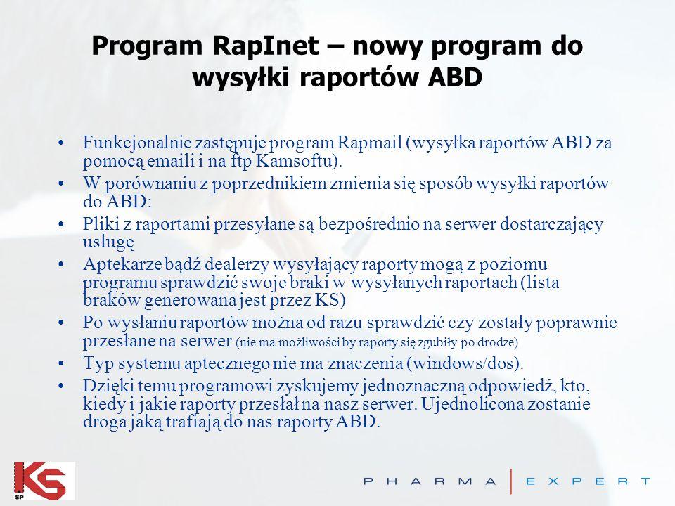 Program RapInet – nowy program do wysyłki raportów ABD