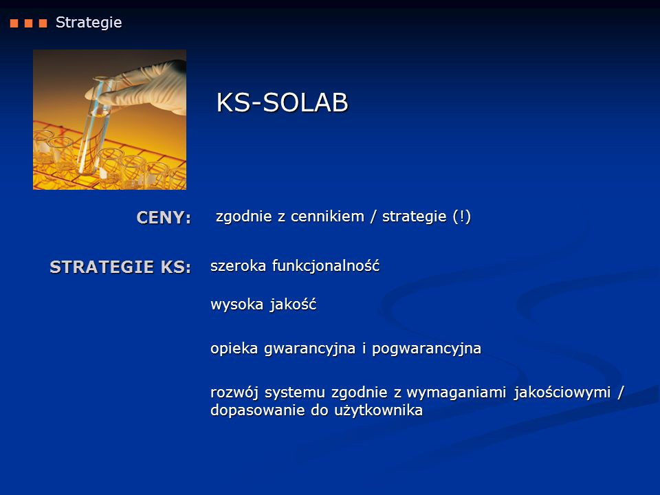 KS-SOLAB CENY: STRATEGIE KS:  Strategie