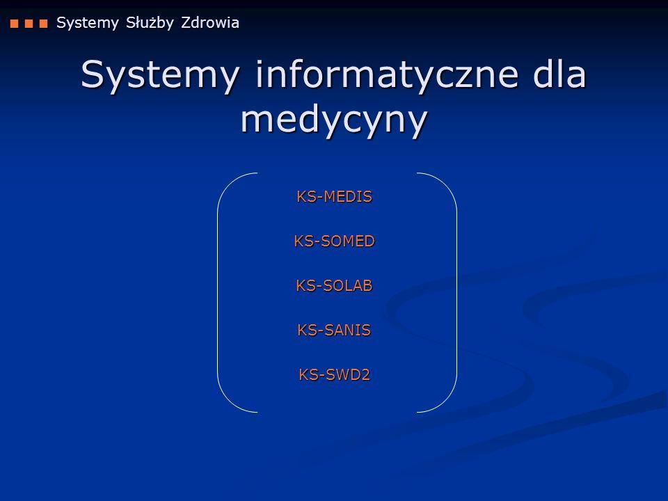 Systemy informatyczne dla medycyny
