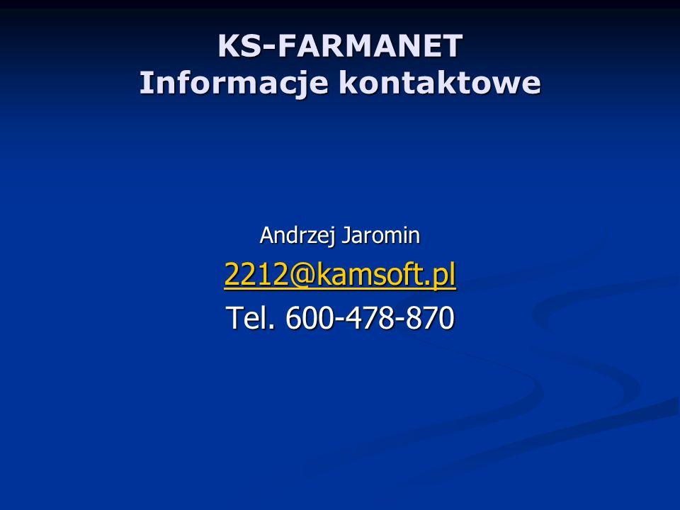 KS-FARMANET Informacje kontaktowe