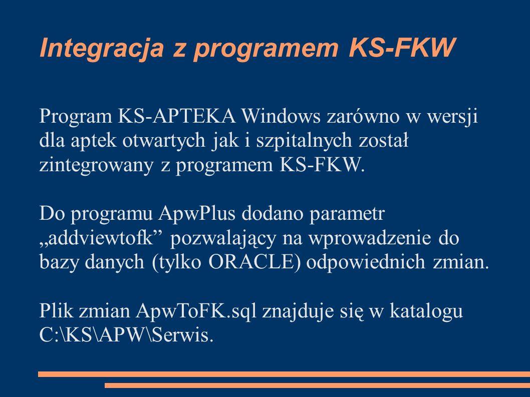 Integracja z programem KS-FKW
