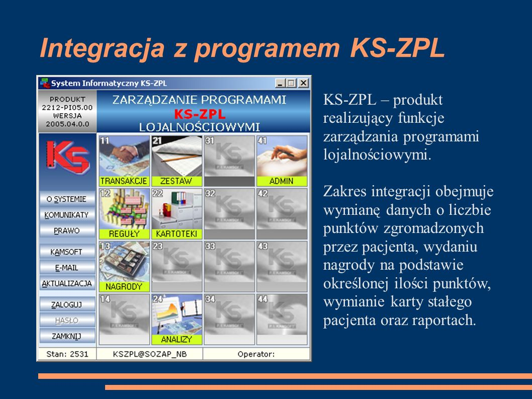 Integracja z programem KS-ZPL