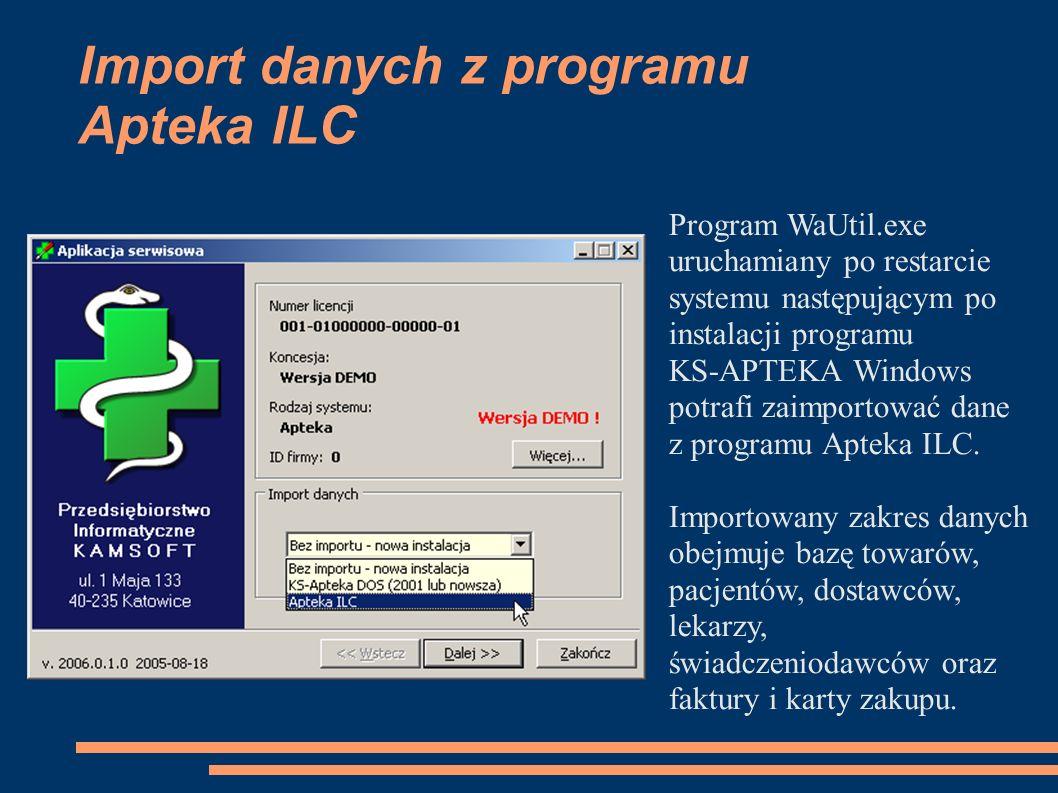 Import danych z programu Apteka ILC