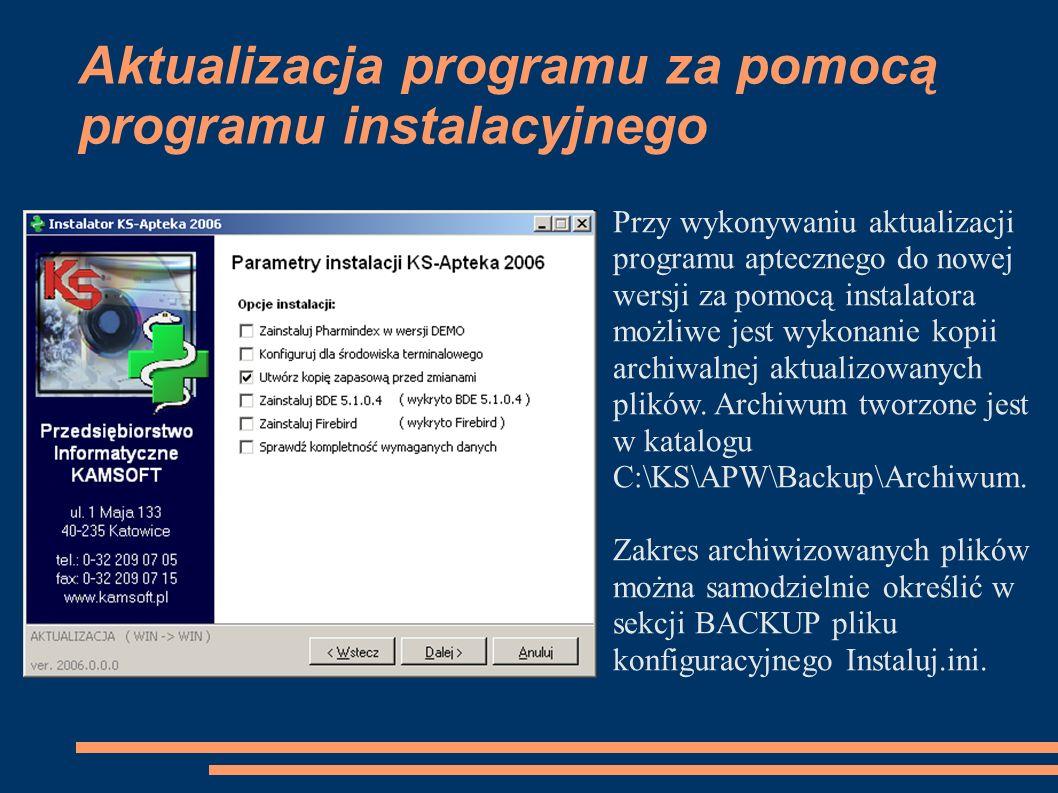 Aktualizacja programu za pomocą programu instalacyjnego