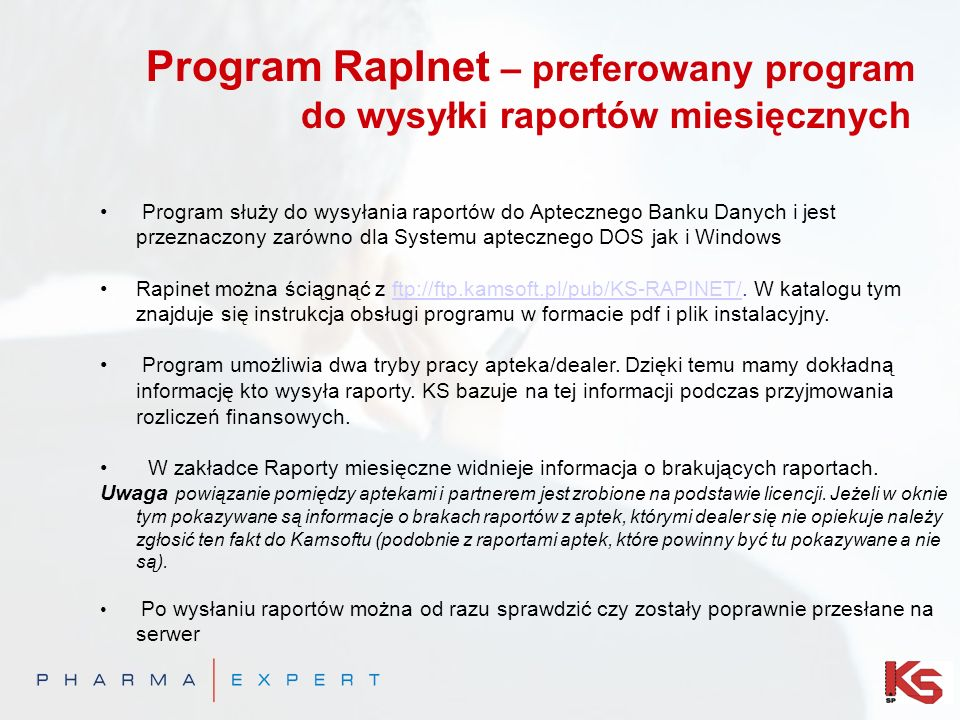 Program RapInet – preferowany program