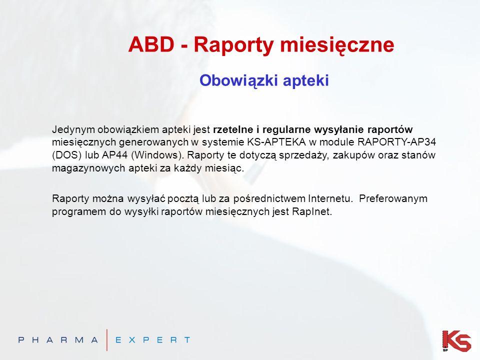 ABD - Raporty miesięczne