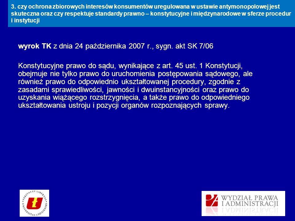 wyrok TK z dnia 24 października 2007 r., sygn. akt SK 7/06