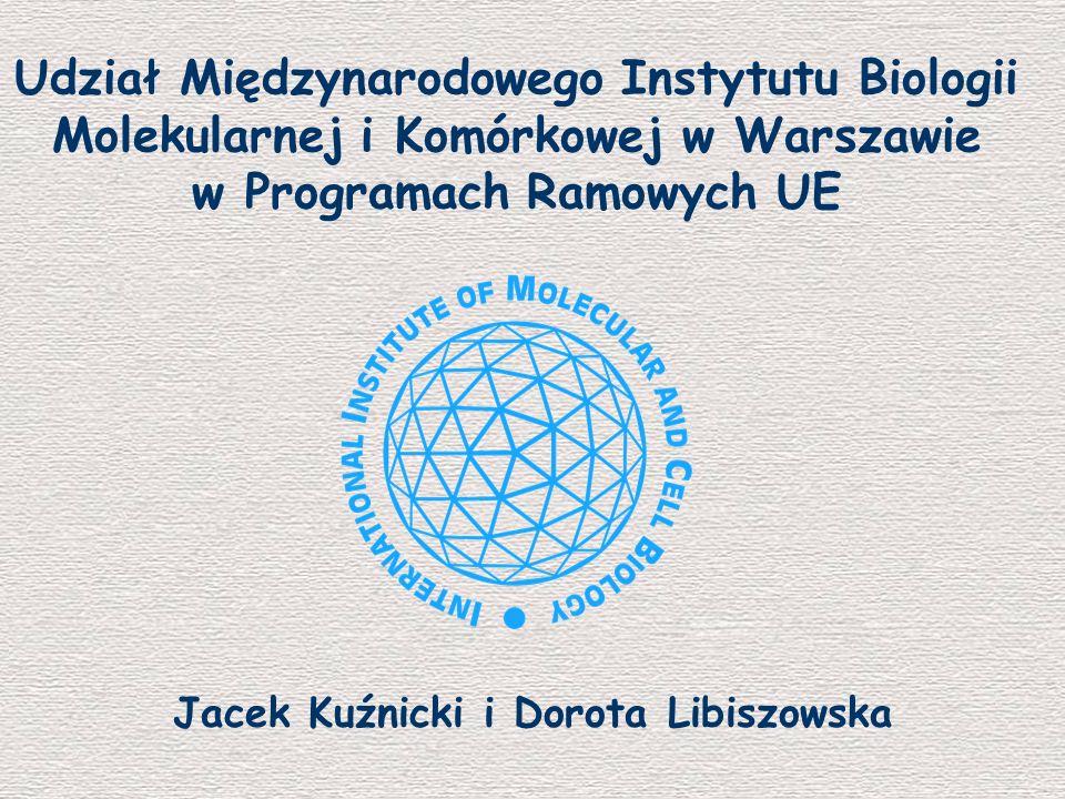 w Programach Ramowych UE Jacek Kuźnicki i Dorota Libiszowska