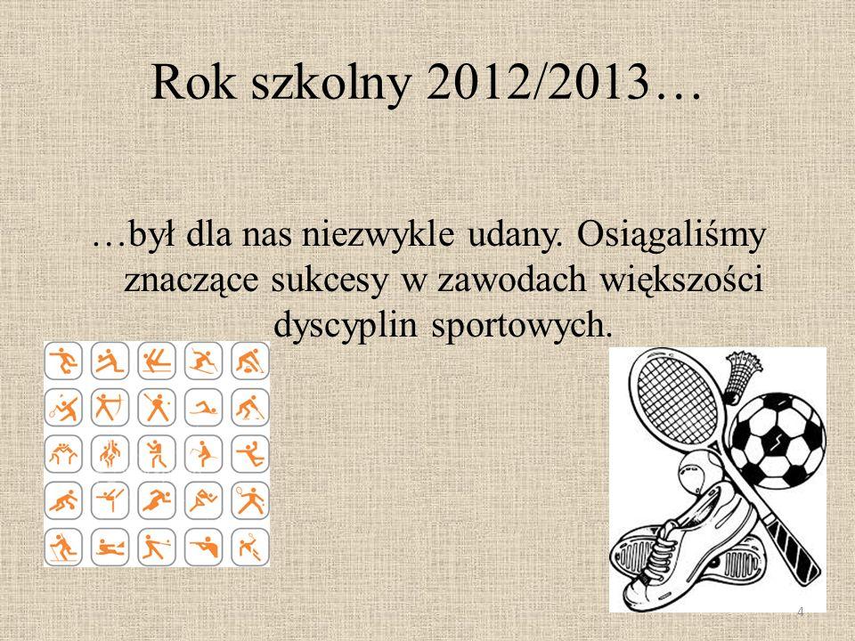 Rok szkolny 2012/2013… …był dla nas niezwykle udany.