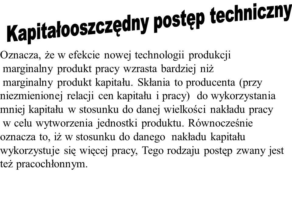 Kapitałooszczędny postęp techniczny
