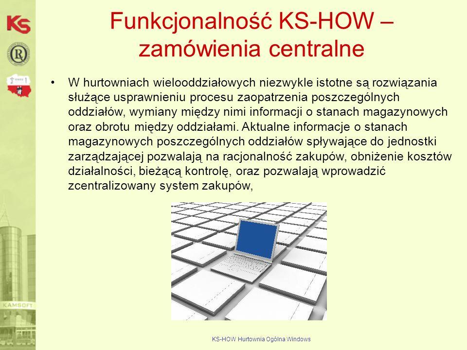 Funkcjonalność KS-HOW – zamówienia centralne