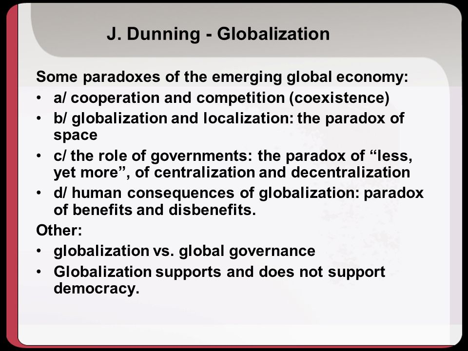 J. Dunning - Globalization