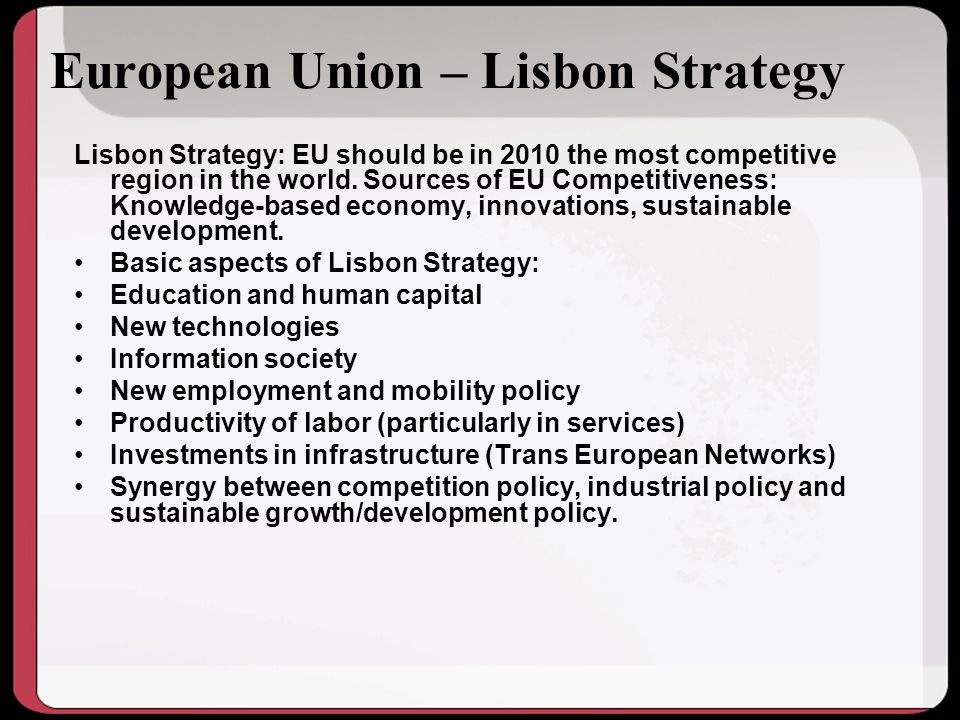 European Union – Lisbon Strategy