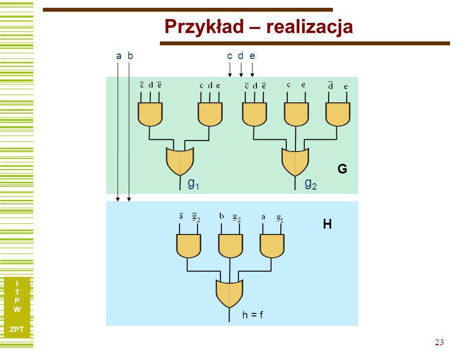 Przykład – realizacja G H