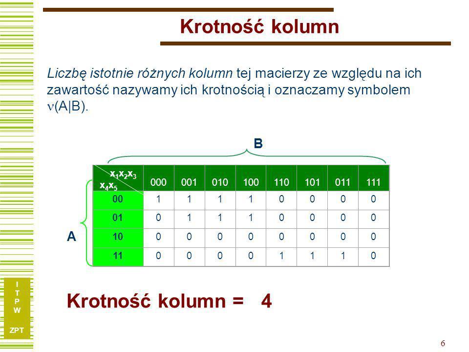 Krotność kolumn Krotność kolumn = 4