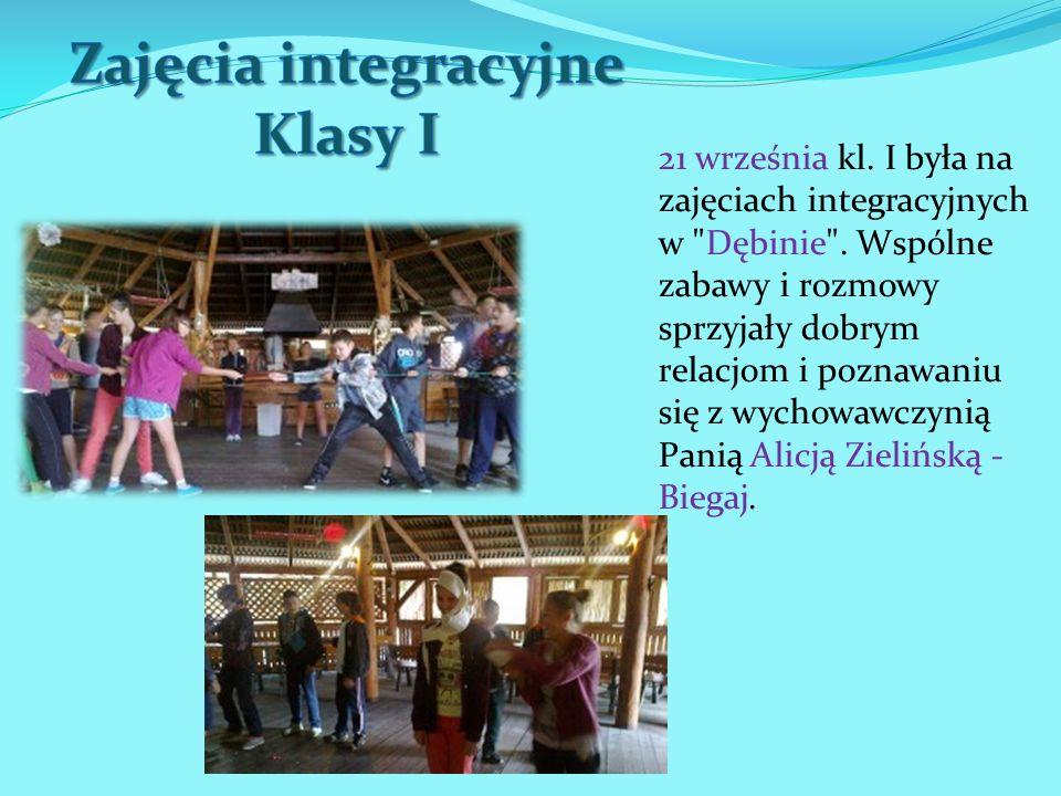 Zajęcia integracyjne Klasy I