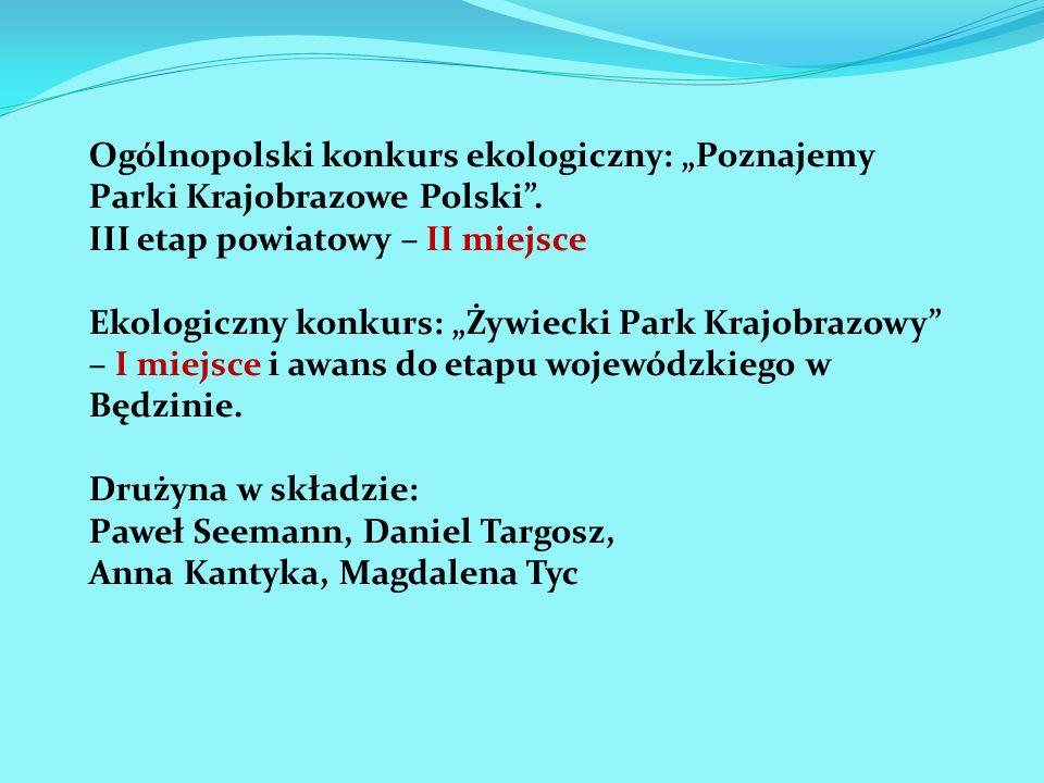 """Ogólnopolski konkurs ekologiczny: """"Poznajemy Parki Krajobrazowe Polski ."""