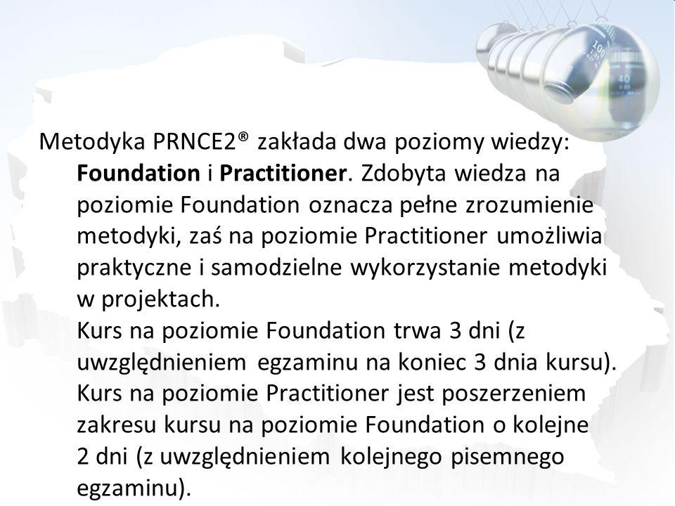 Metodyka PRNCE2® zakłada dwa poziomy wiedzy: Foundation i Practitioner