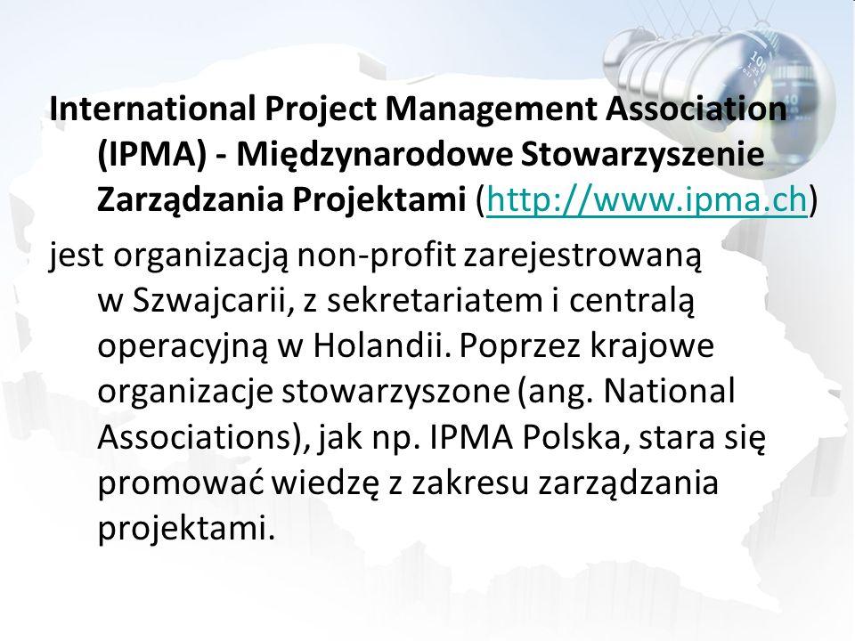 International Project Management Association (IPMA) - Międzynarodowe Stowarzyszenie Zarządzania Projektami (http://www.ipma.ch) jest organizacją non-profit zarejestrowaną w Szwajcarii, z sekretariatem i centralą operacyjną w Holandii.