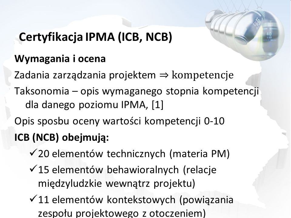 Certyfikacja IPMA (ICB, NCB)
