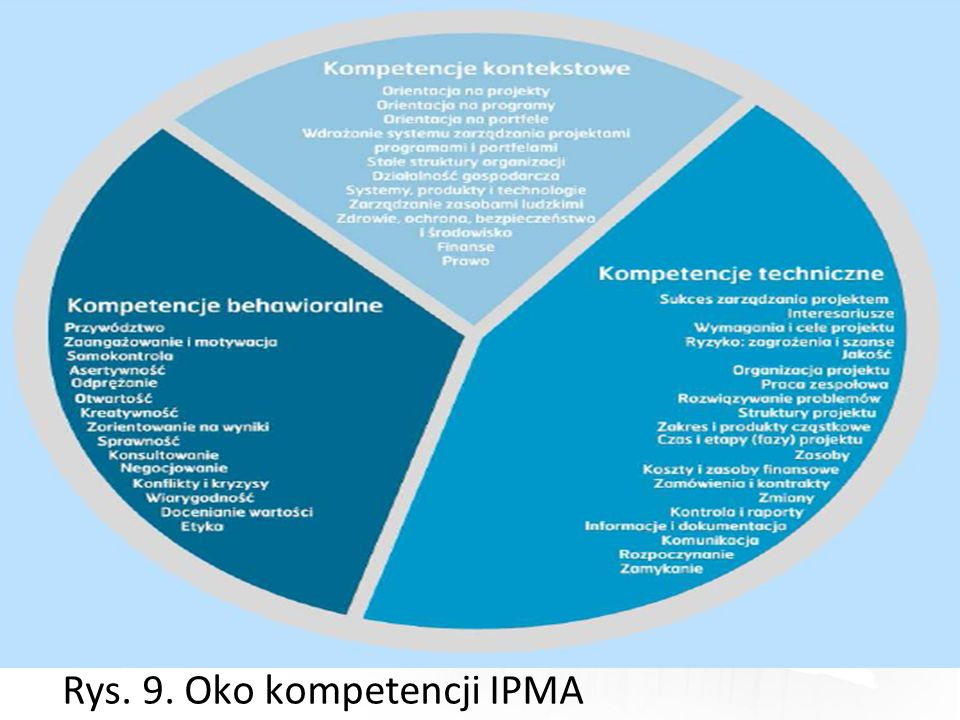 Rys. 9. Oko kompetencji IPMA