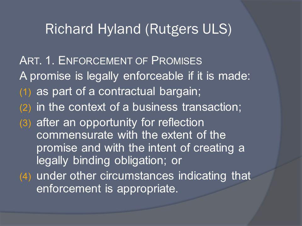 Richard Hyland (Rutgers ULS)