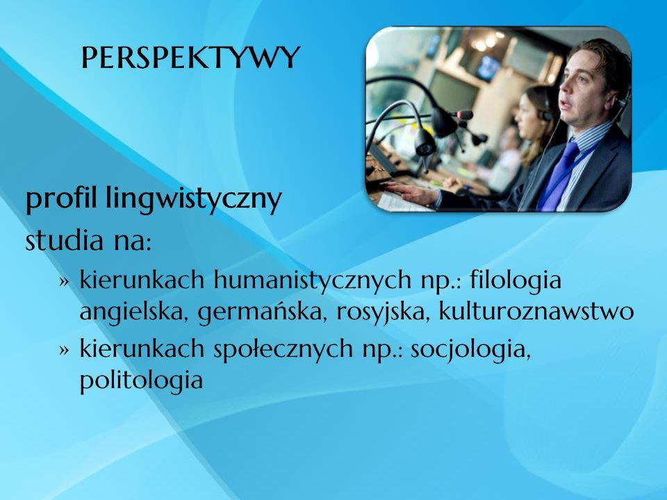 perspektywy profil lingwistyczny studia na: