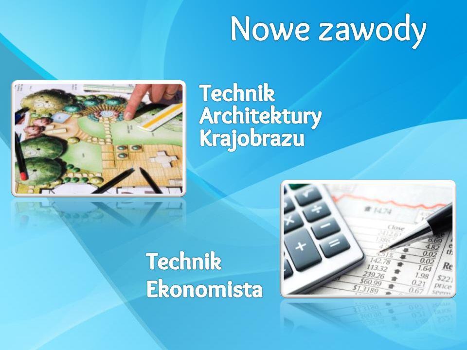 Nowe zawody Technik Architektury Krajobrazu Technik Ekonomista