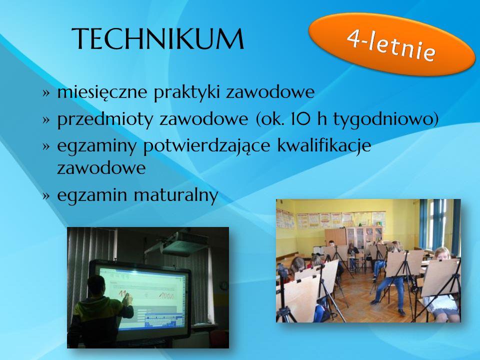 TECHNIKUM 4-letnie miesięczne praktyki zawodowe