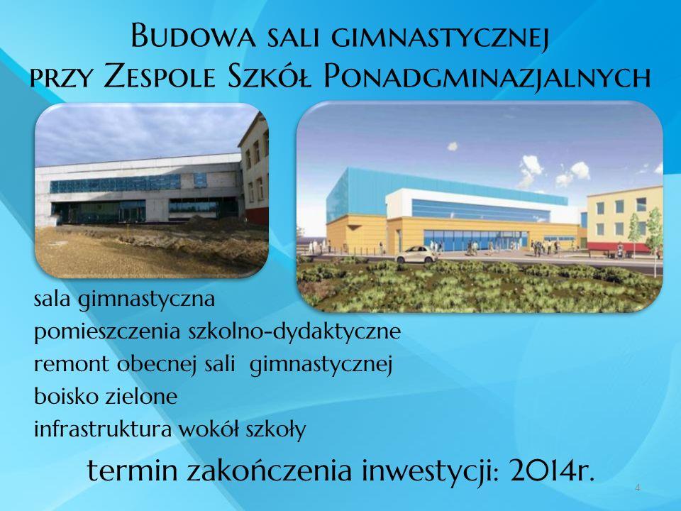 Budowa sali gimnastycznej przy Zespole Szkół Ponadgminazjalnych