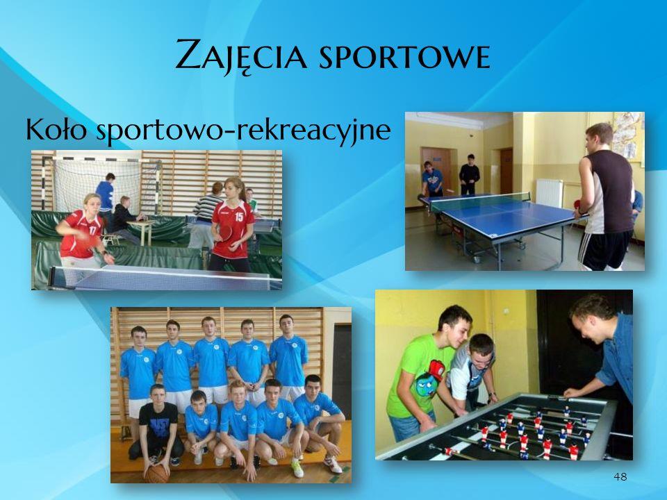 Zajęcia sportowe Koło sportowo-rekreacyjne